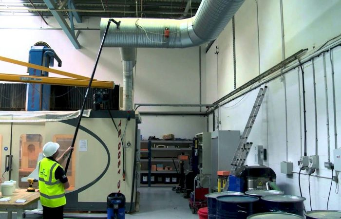 Cleaning Hard to Reach Spaces in Industrial Facilities